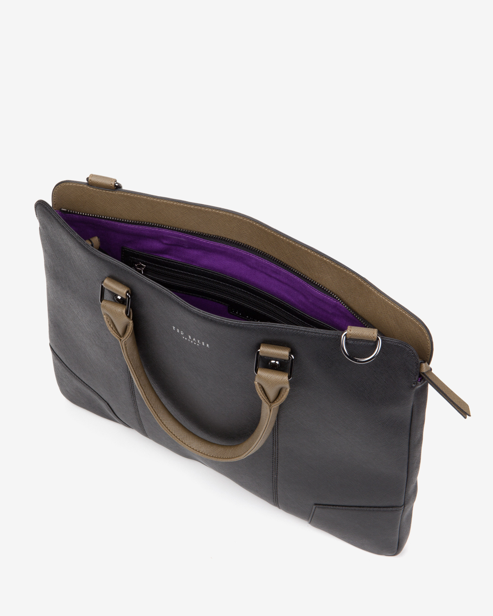 7bf9c15eb6fdc Lyst - Ted Baker Contrast Handle Document Bag in Black for Men