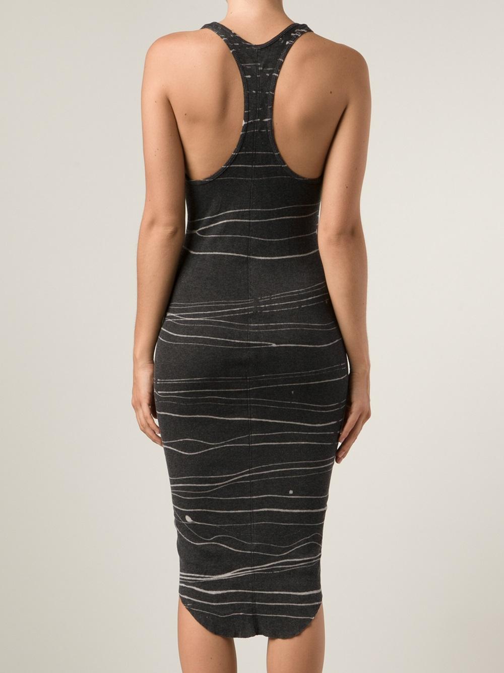 Lyst - Raquel Allegra Wife Beater Dress in Black