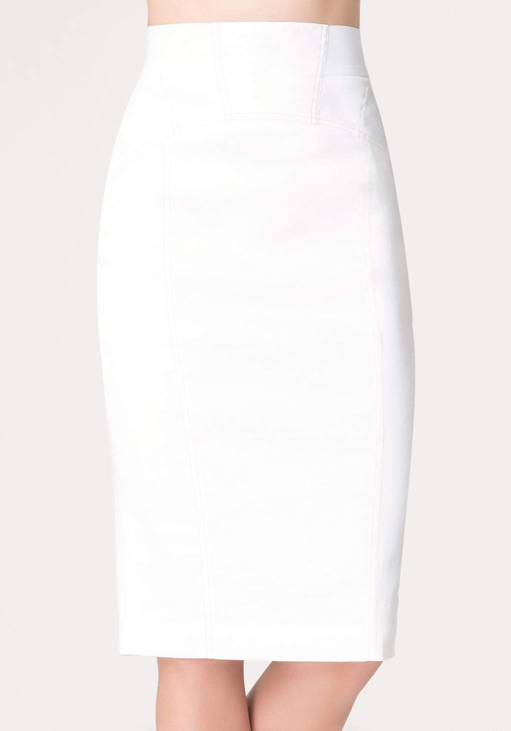 bebe neve desert pencil skirt in white lyst