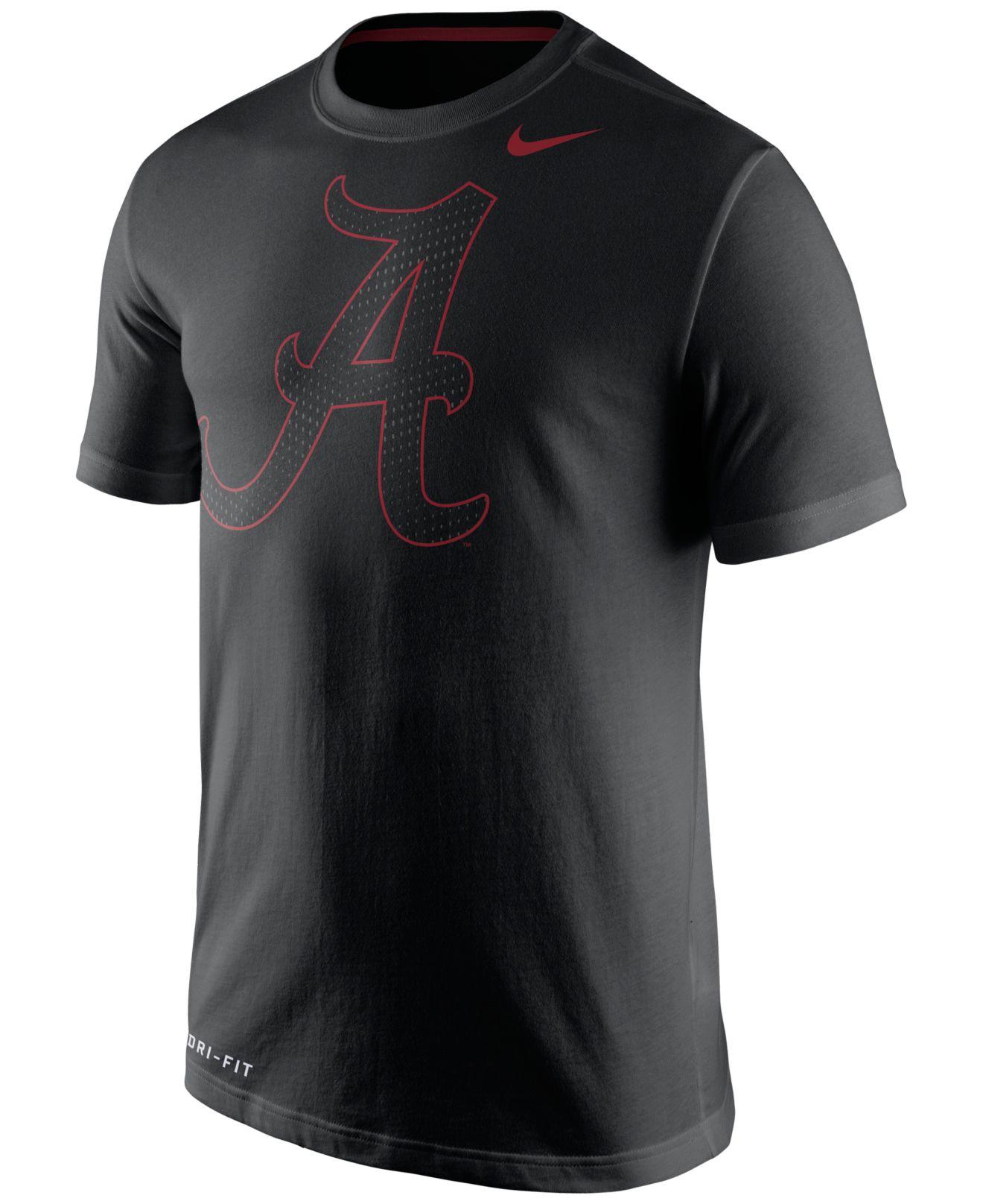 Nike men 39 s alabama crimson tide dri fit travel t shirt in for T shirt printing mobile al