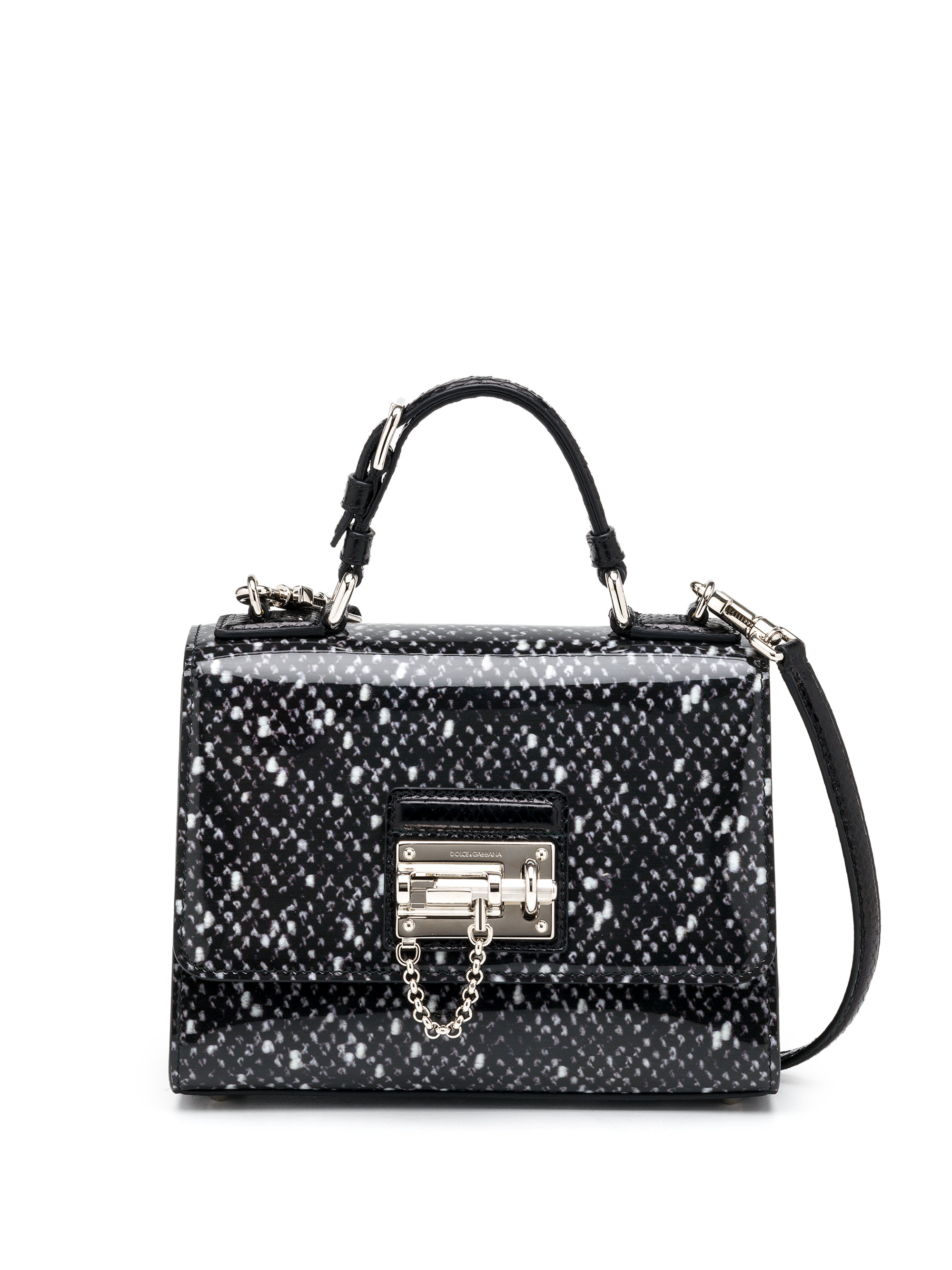 Lyst - Dolce   Gabbana Monica Small Spotted Patent Leather   Ayers ... 68c58fd58c3ee