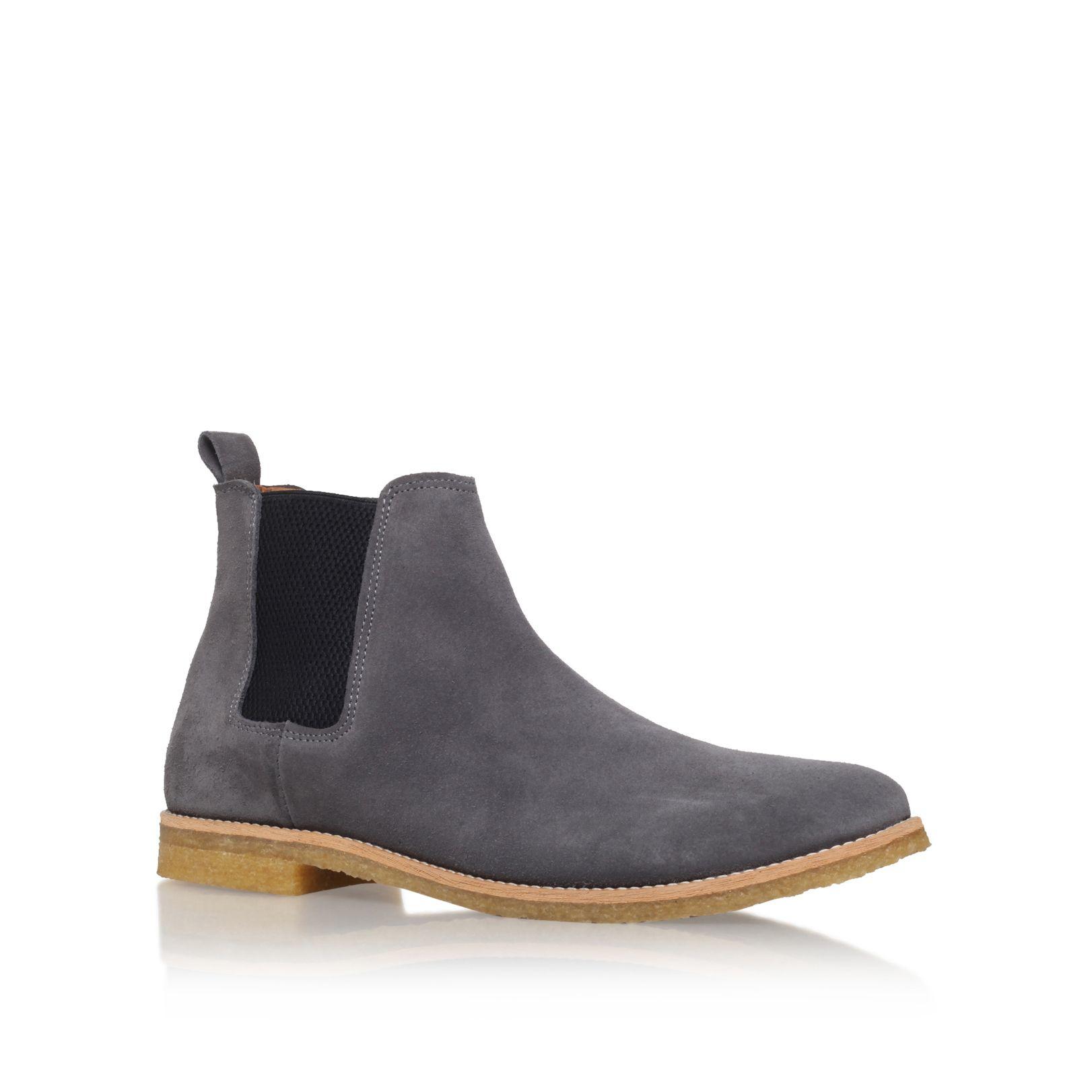 kg by kurt geiger reggie chelsea boots in gray for men lyst. Black Bedroom Furniture Sets. Home Design Ideas