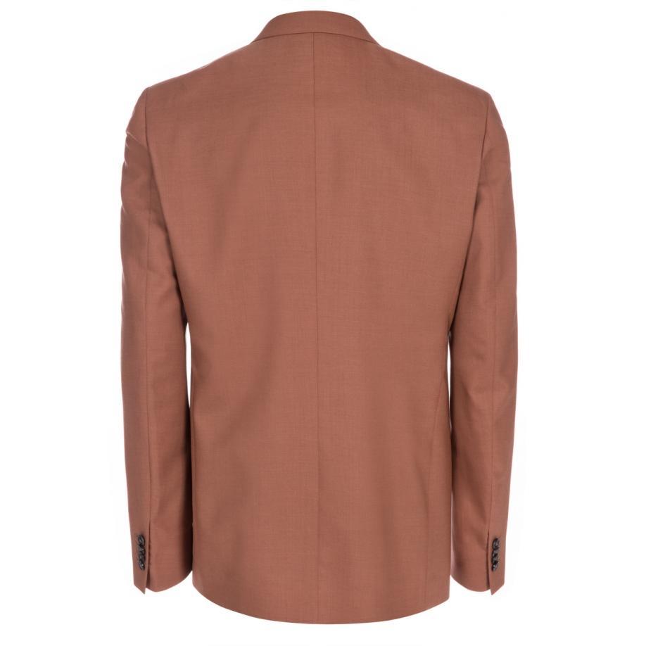 Paul Smith Mens Slim fit Terracotta Wool crepe Blazer In