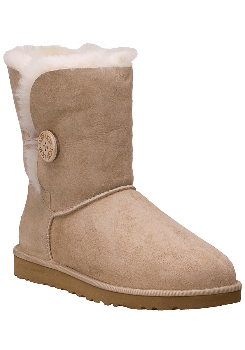 ugg bailey button sand sheepskin boots in natural lyst. Black Bedroom Furniture Sets. Home Design Ideas