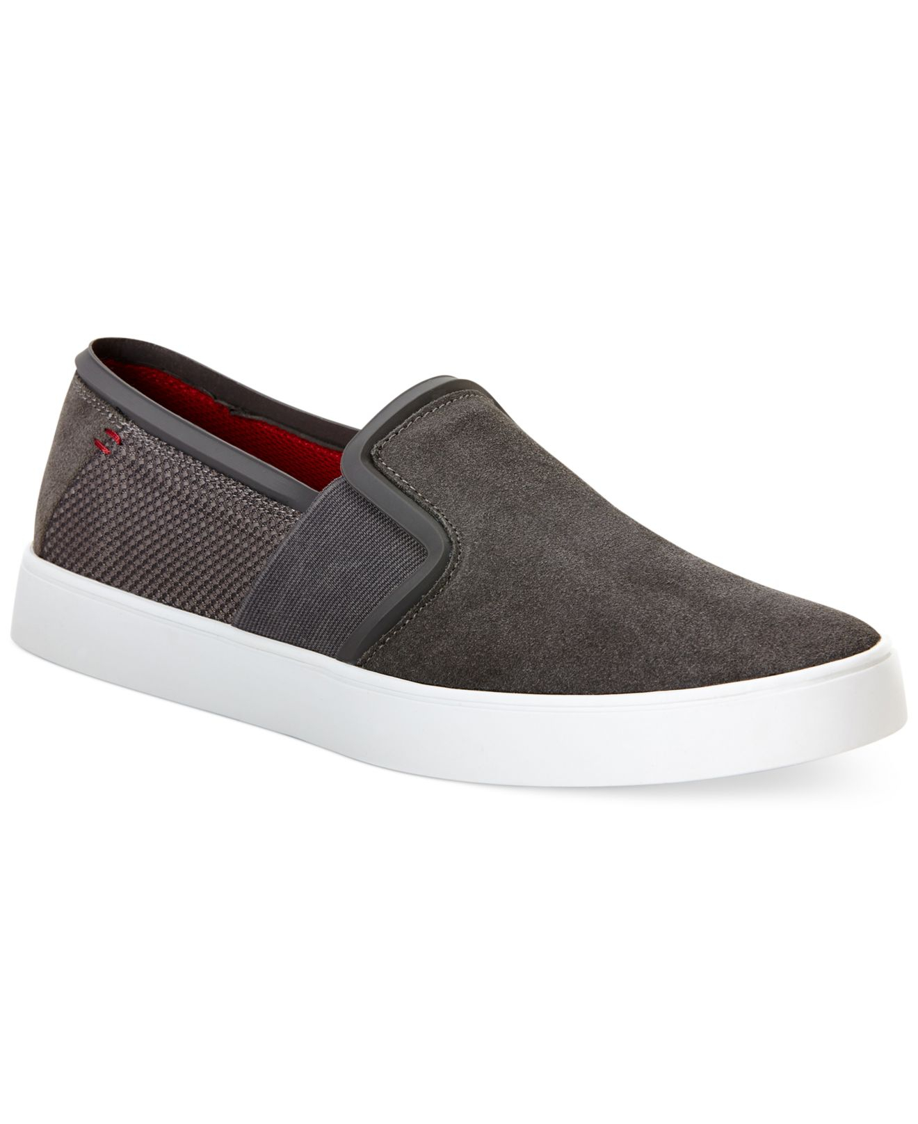 calvin klein jeans lark slip on sneakers in gray for men. Black Bedroom Furniture Sets. Home Design Ideas