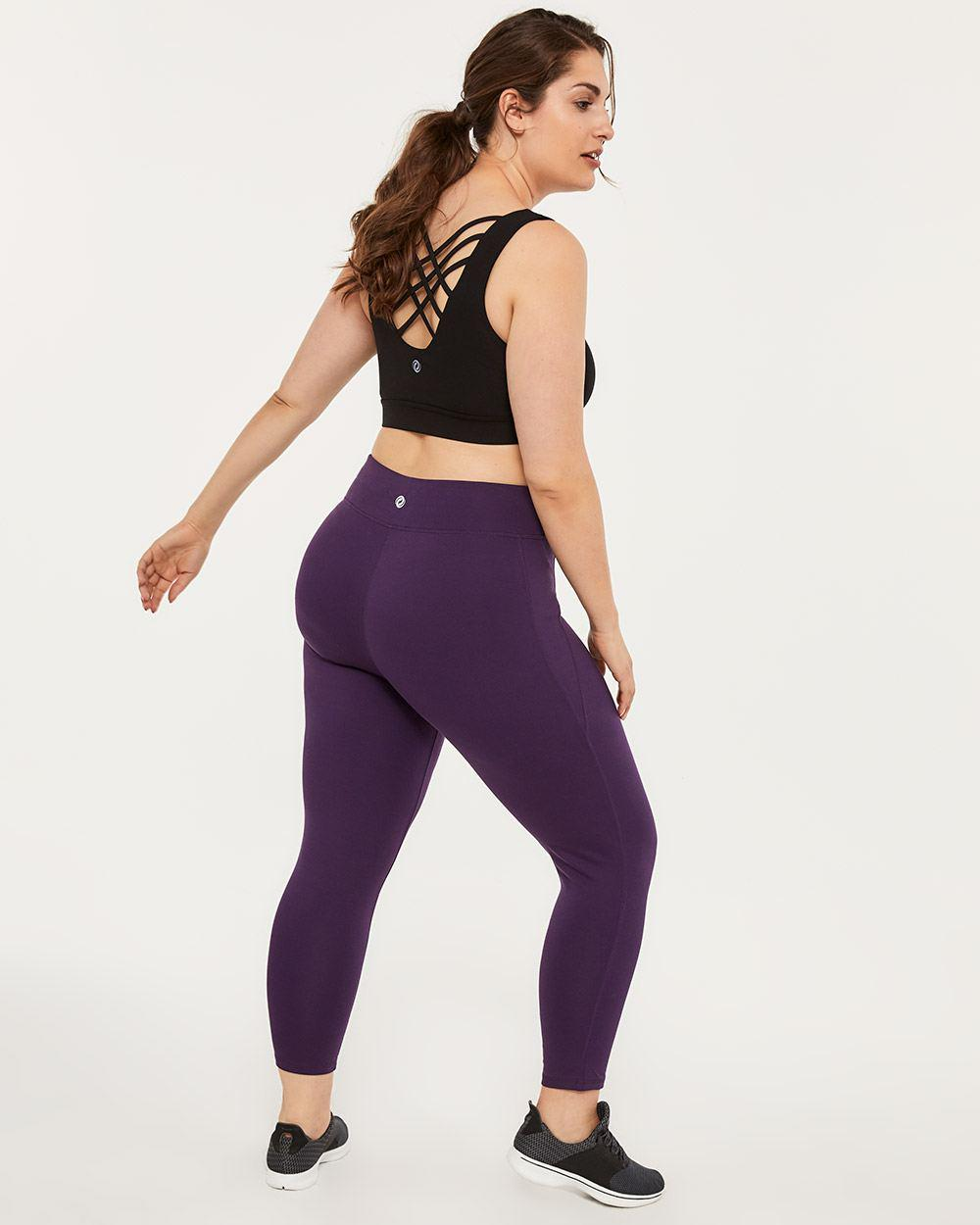 4fab8d1f1a3ca4 Lyst - Addition Elle Plus-size Basic 7/8 Legging - Activezone in Purple