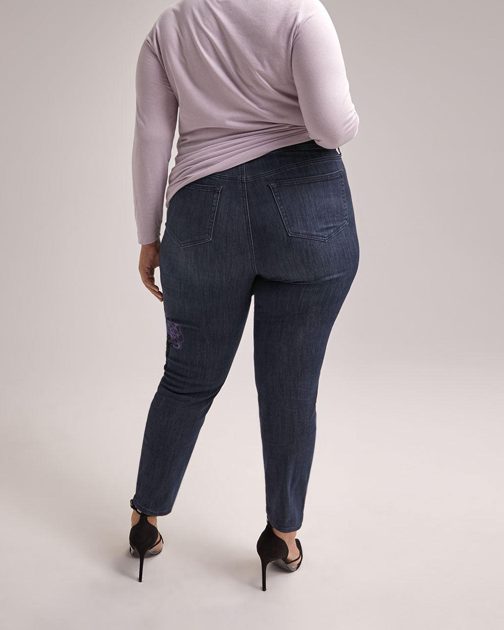 dd47f1935a6 Lyst - Addition Elle Online Only - Tall Slightly Curvy Straight Leg  Girlfriend Jean - D c Jeans in Blue