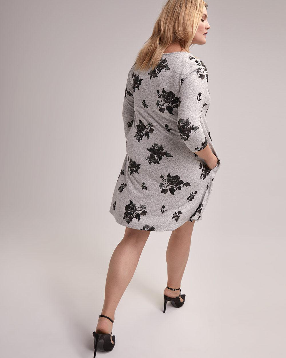 a88de5324acc Lyst - Addition Elle Printed A-line Dress - Michel Studio in Gray