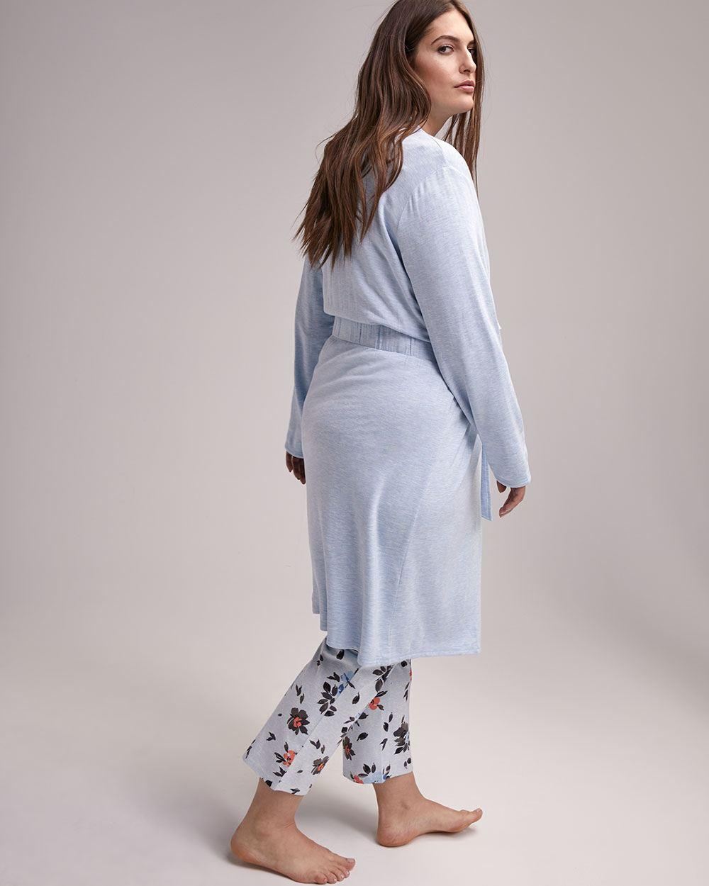 ef9aea60b Lyst - Addition Elle French Terry Lounge Robe With Sash - Ti Voglio in Blue