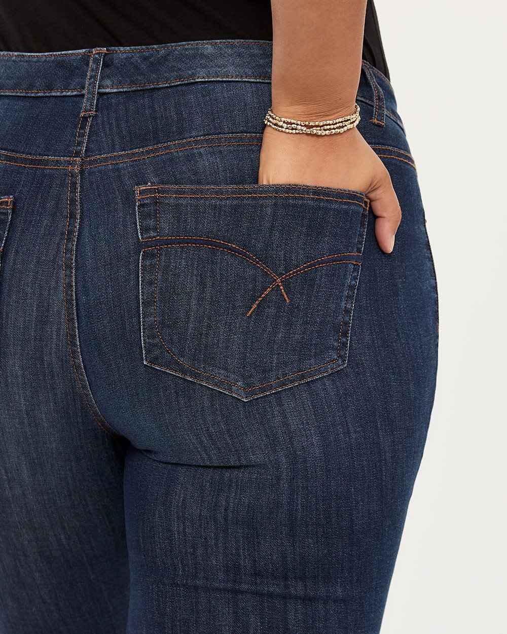 f8cee3a85ba911 Lyst - Addition Elle Petite Slightly Curvy Fit Straight Leg Jean ...