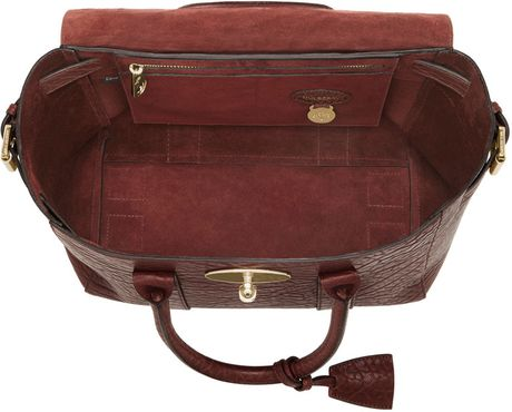 9b736901cb ... best price mulberry small bayswater buckle in red oxblood lyst d1dc4  6775d