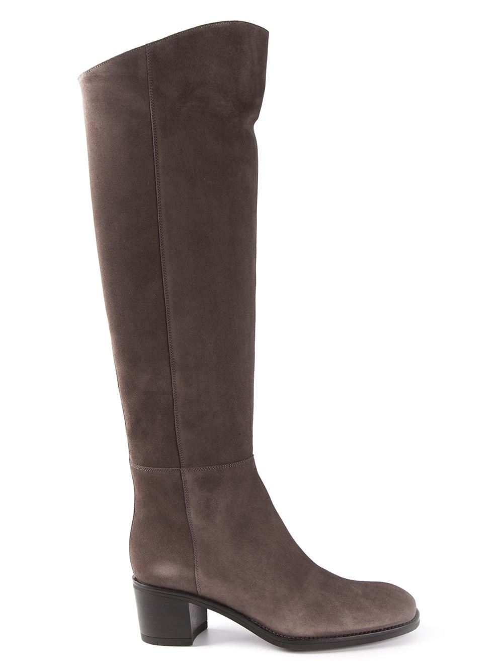 santoni knee high boots in gray grey lyst