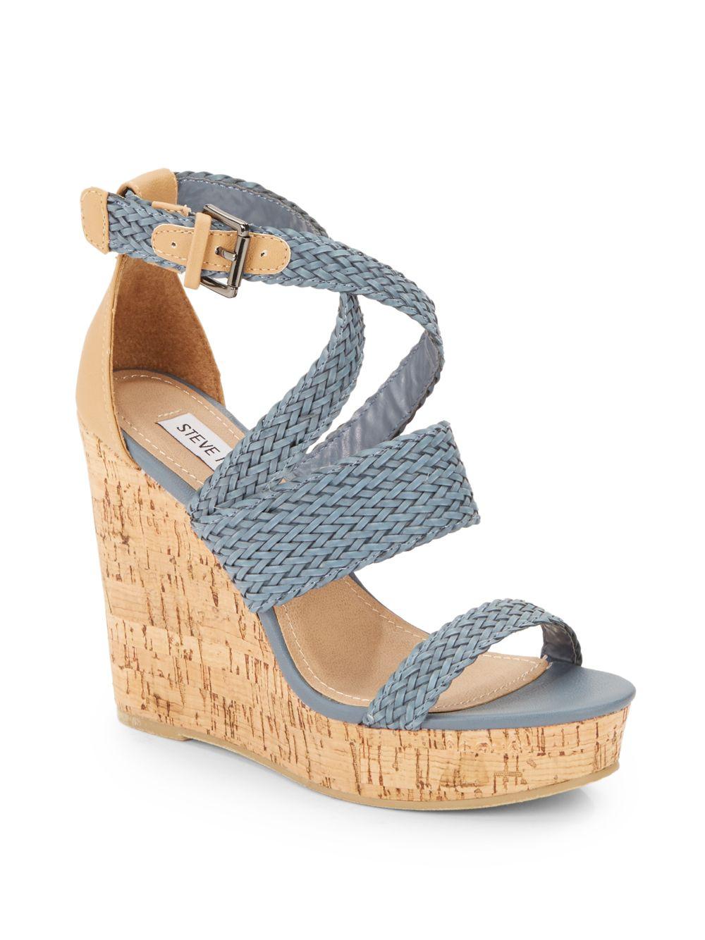 Lyst Steve Madden Slippie Braided Pleather Wedge Sandals