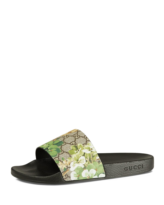 0f0a80f1118 Lyst - Gucci Pursuit Blooms Printed Sandal