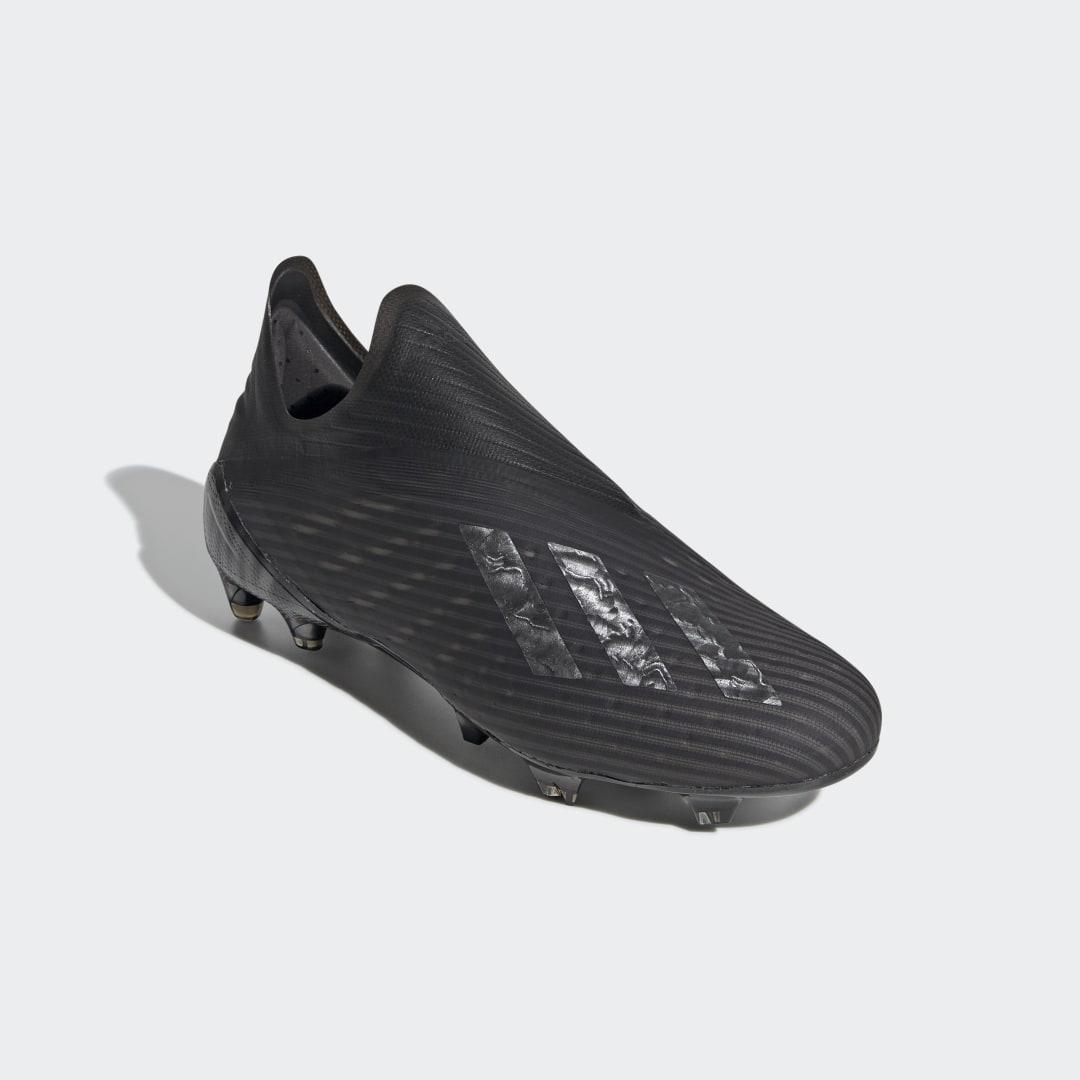Bota de fútbol X 19+ césped natural seco adidas de color Negro