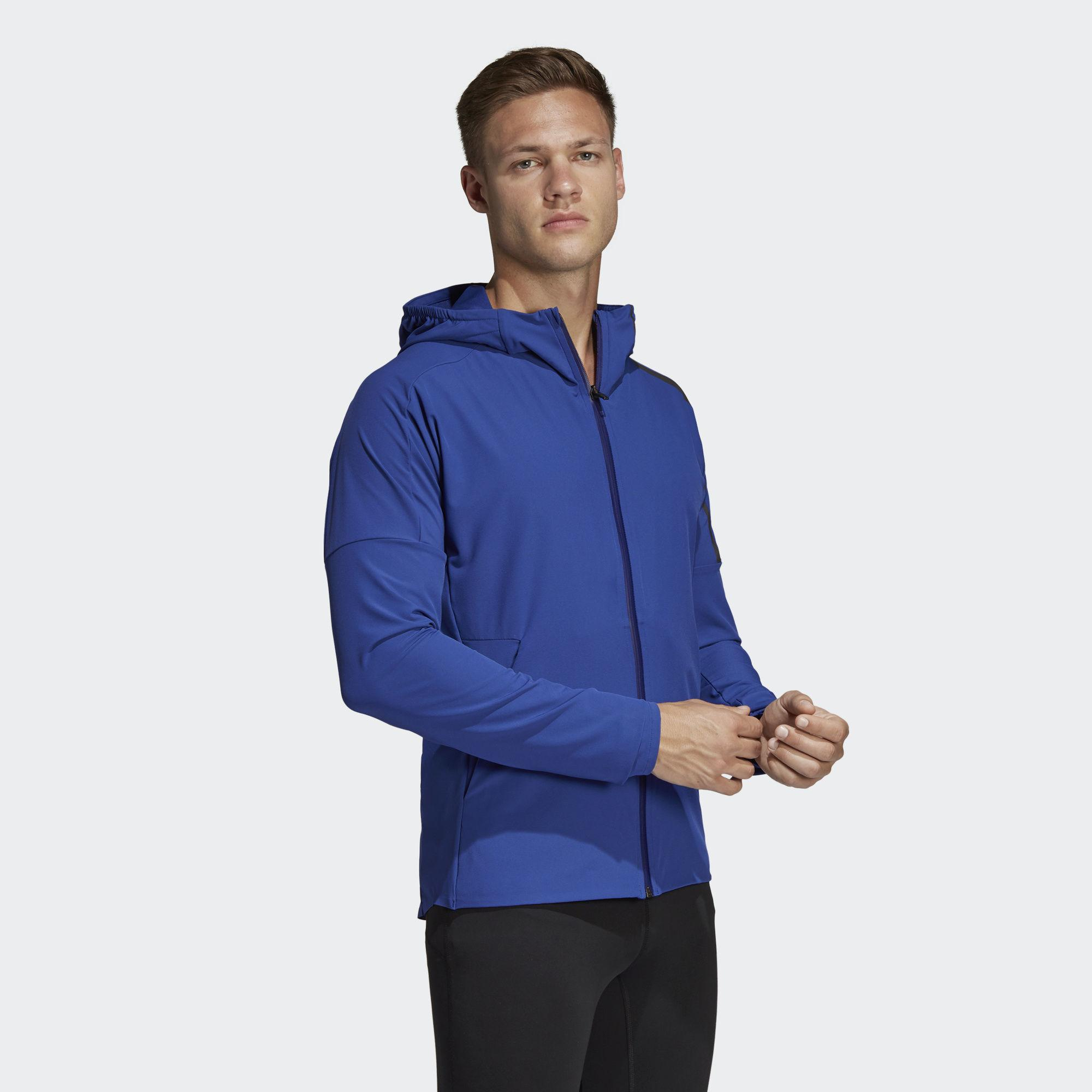 adidas Synthetic Z.n.e. Run Jacket in Blue for Men