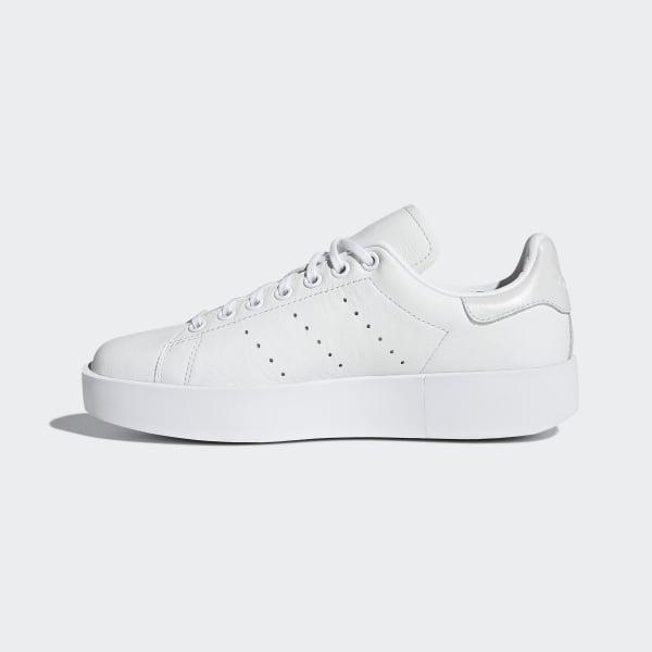 adidas Leather Stan Smith Bold Shoes in White - Lyst