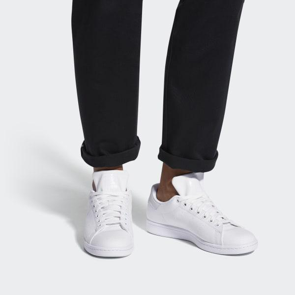 get cheap new style the latest adidas Stan Smith Canvas Shoes in White for Men - Lyst