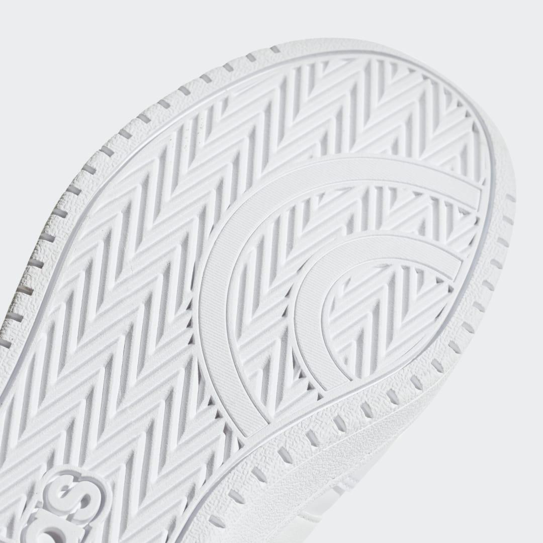 Zapatilla Hoops 2.0 adidas de Cuero de color Blanco