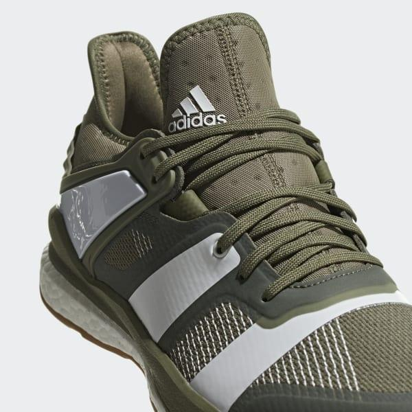 adidas Stabil X Shoes in Green for Men