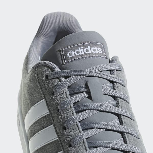 adidas Suede Grand Court Shoes in Grey (Gray) for Men - Lyst