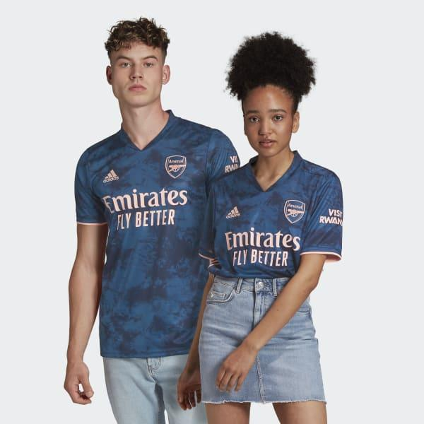 adidas Synthetic Arsenal 20/21 Third Jersey in Blue for Men - Lyst