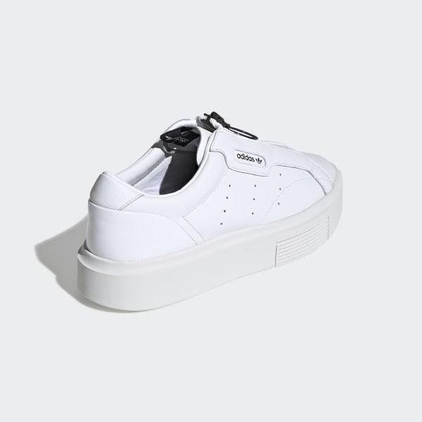 Barbero vía Lago taupo  adidas Sleek Super Zip Shoes in White - Lyst