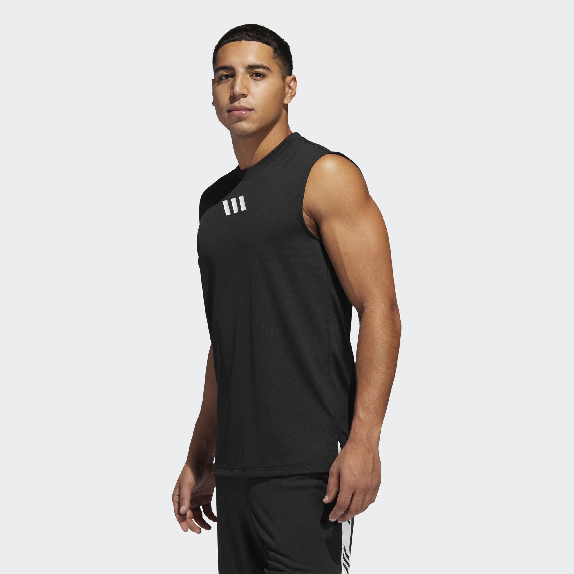 617f0fb3b Adidas - Black Pro Madness Tank Top for Men - Lyst. View fullscreen