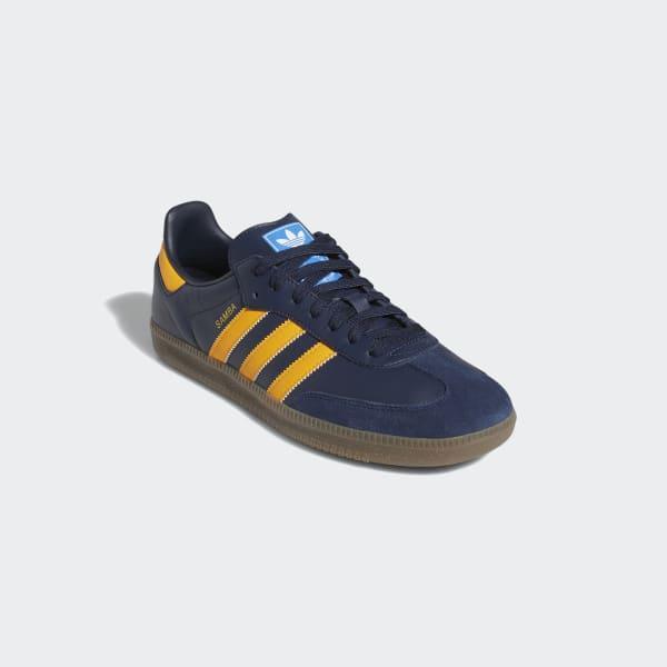 adidas Leather Samba Og Shoes in Blue
