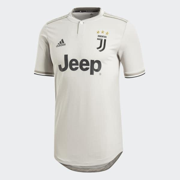 Adidas Synthetic Juventus Away Authentic Jersey In Grey Gray For Men Lyst