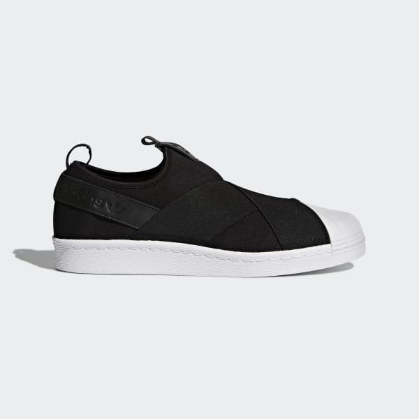 adidas Synthetic Superstar Slip-on Shoes in Black for Men - Lyst