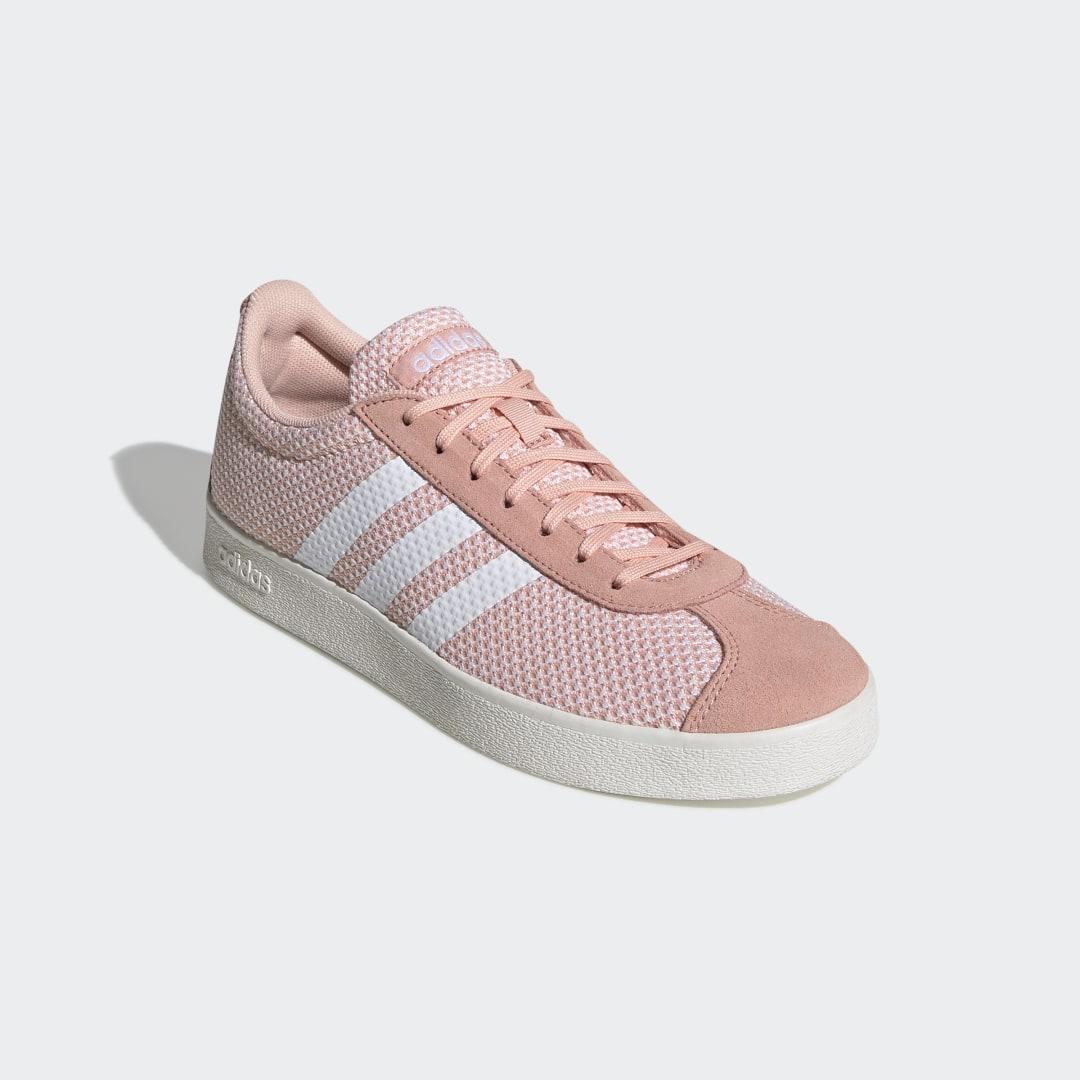 Zapatilla VL Court 2.0 adidas de Ante de color Rosa