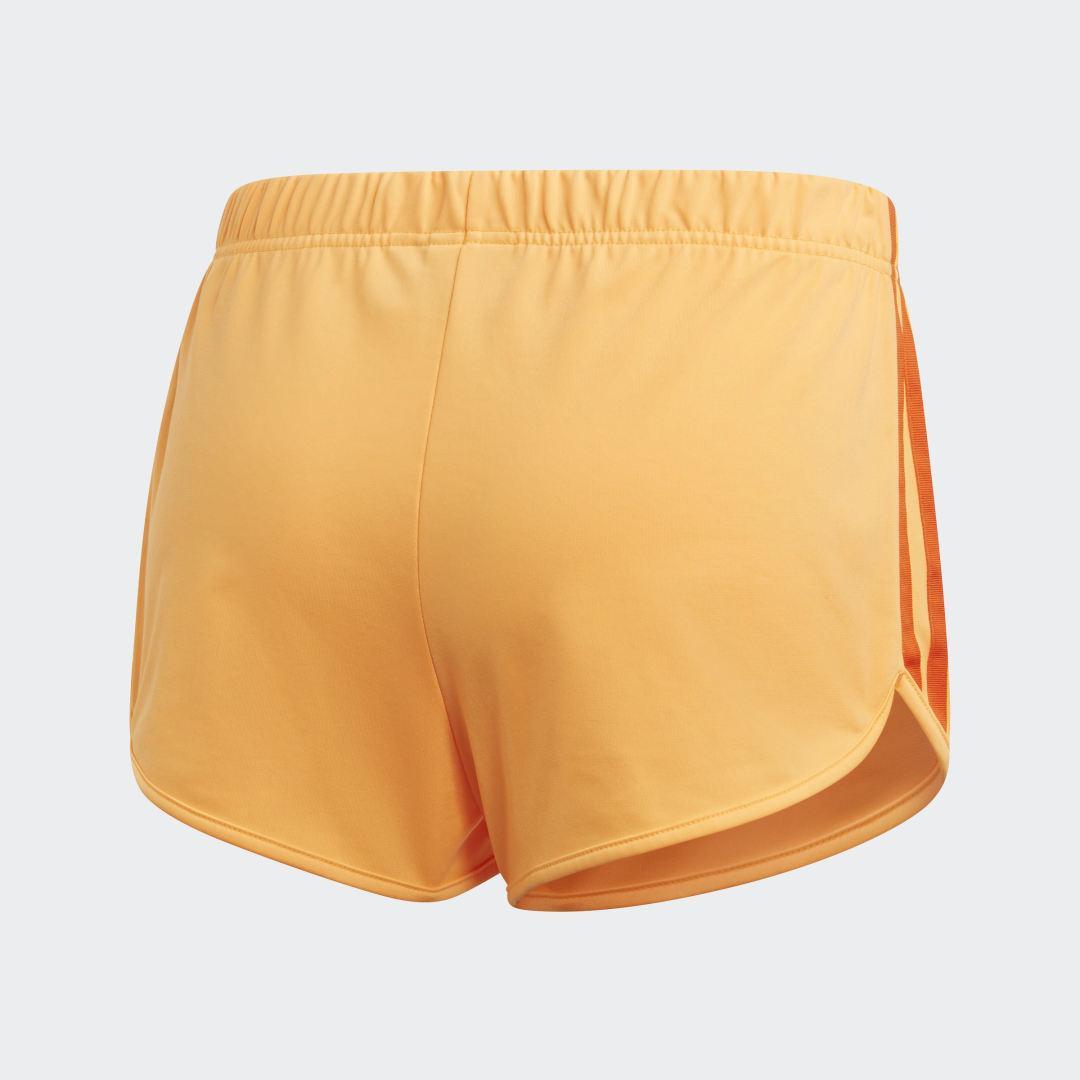 Pantalón corto 3 bandas adidas de color Naranja