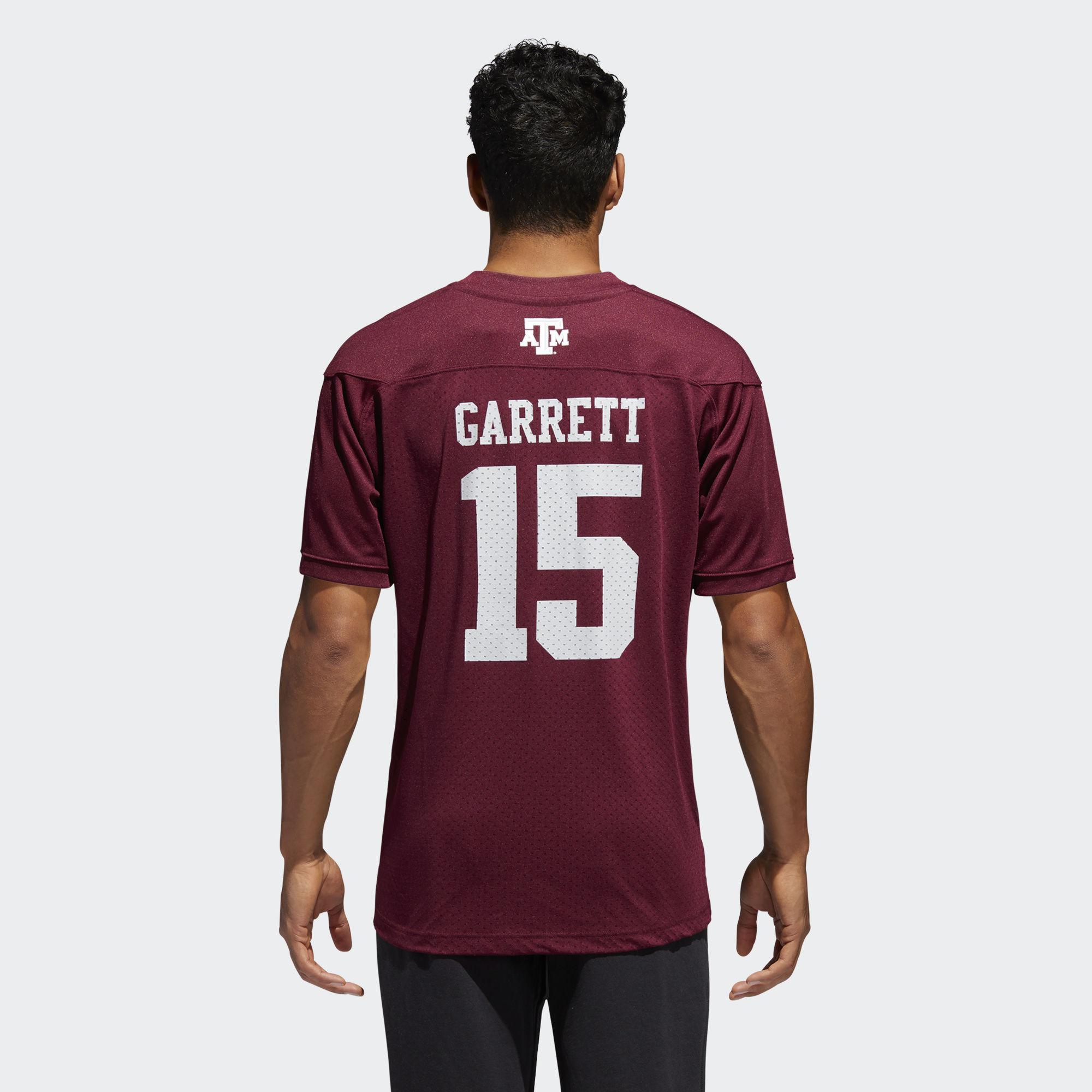 cheap for discount 80ed2 a8d98 Adidas White Aggies Myles Garrett Replica Football Jersey for men
