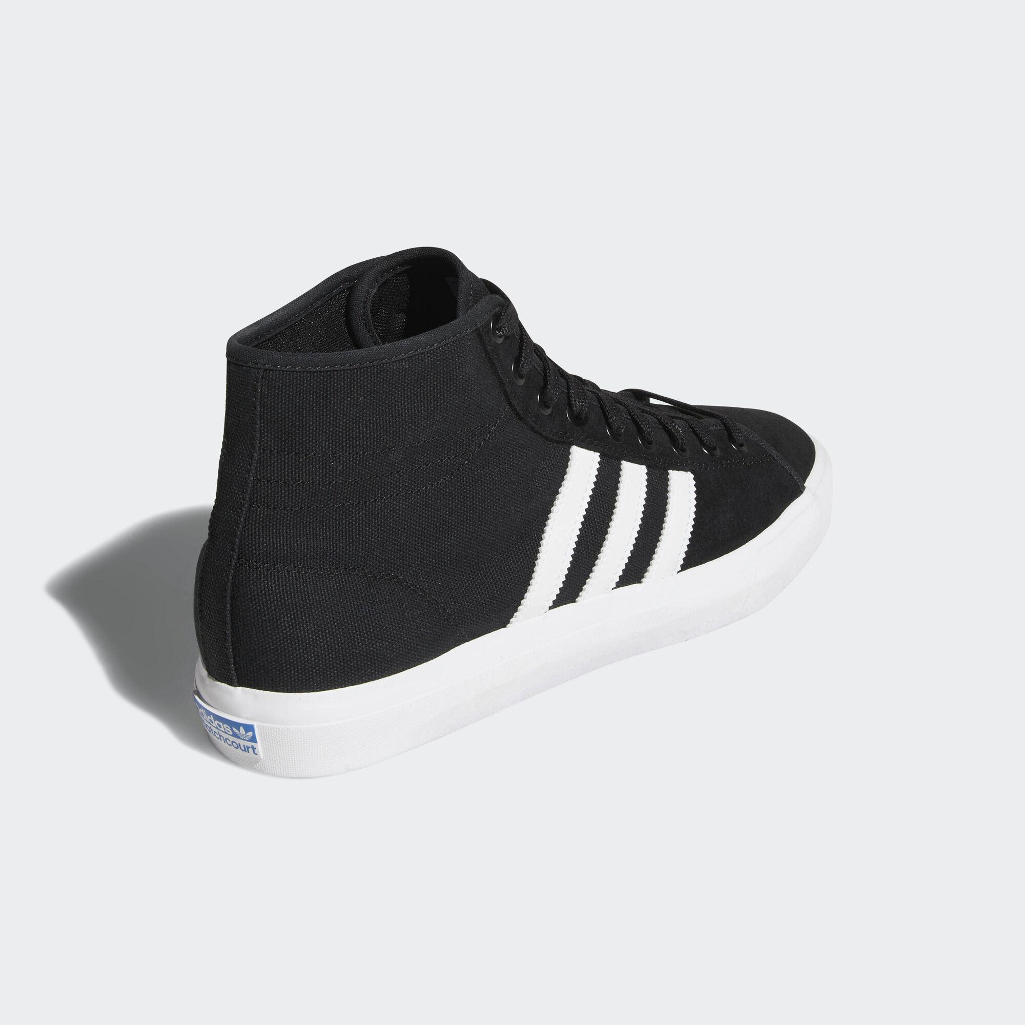 Zapatillas de caña alta Matchcourt High RX adidas de Lona de color Negro para hombre