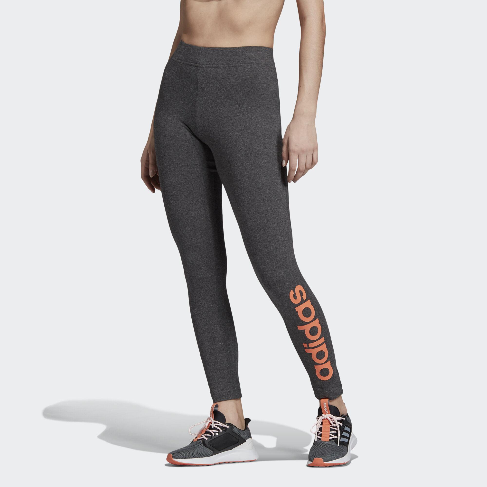 dfb151177667d Adidas - Gray Essentials Linear Leggings - Lyst. View fullscreen