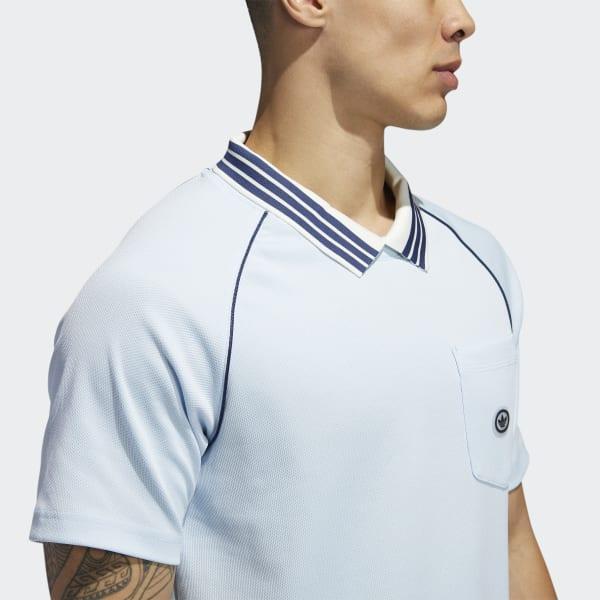 adidas Cotton Mock Eye Jersey in Blue - Lyst