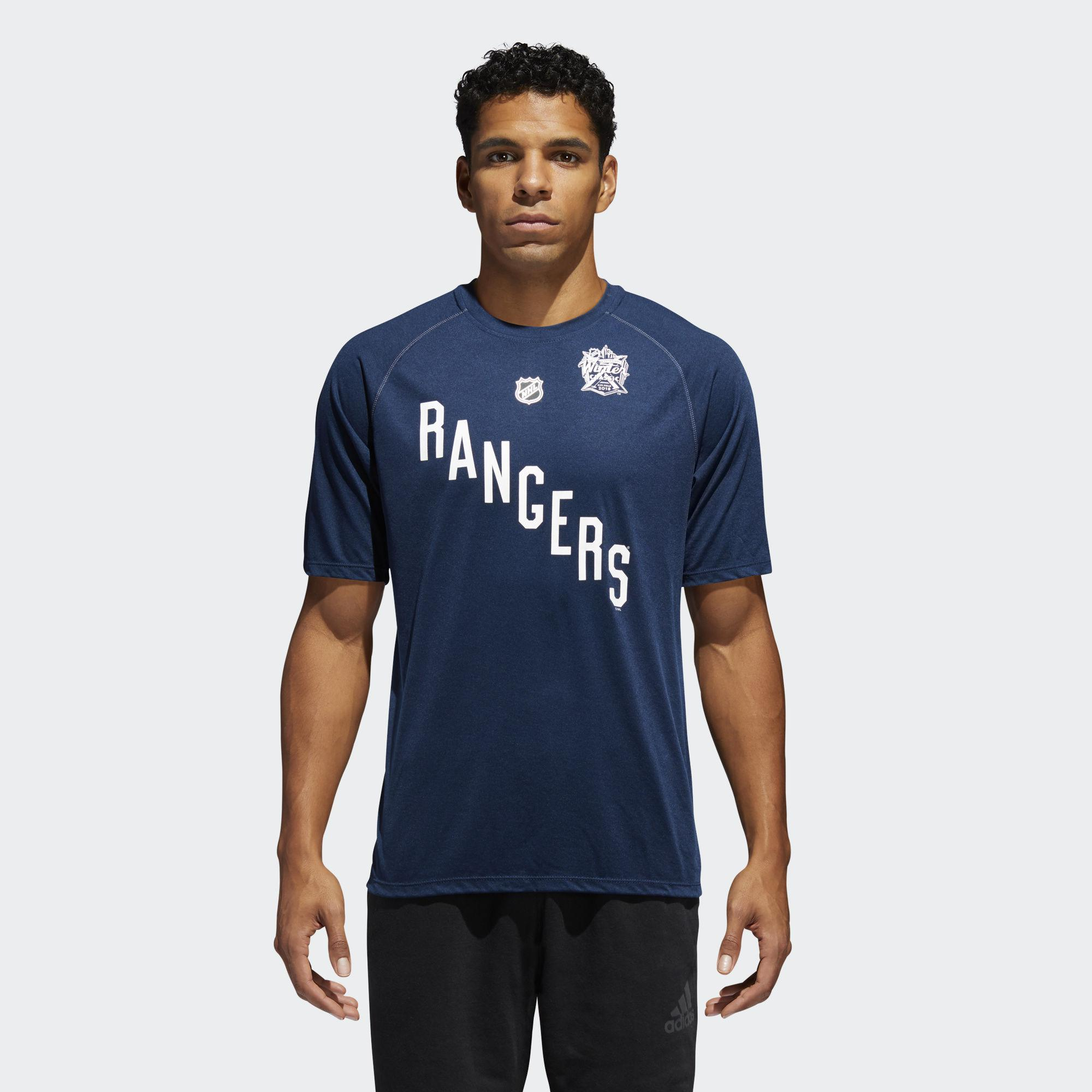 Adidas   Blue Rangers 2018 Winter Classic Ice Logo Tee for Men   Lyst. View  Fullscreen