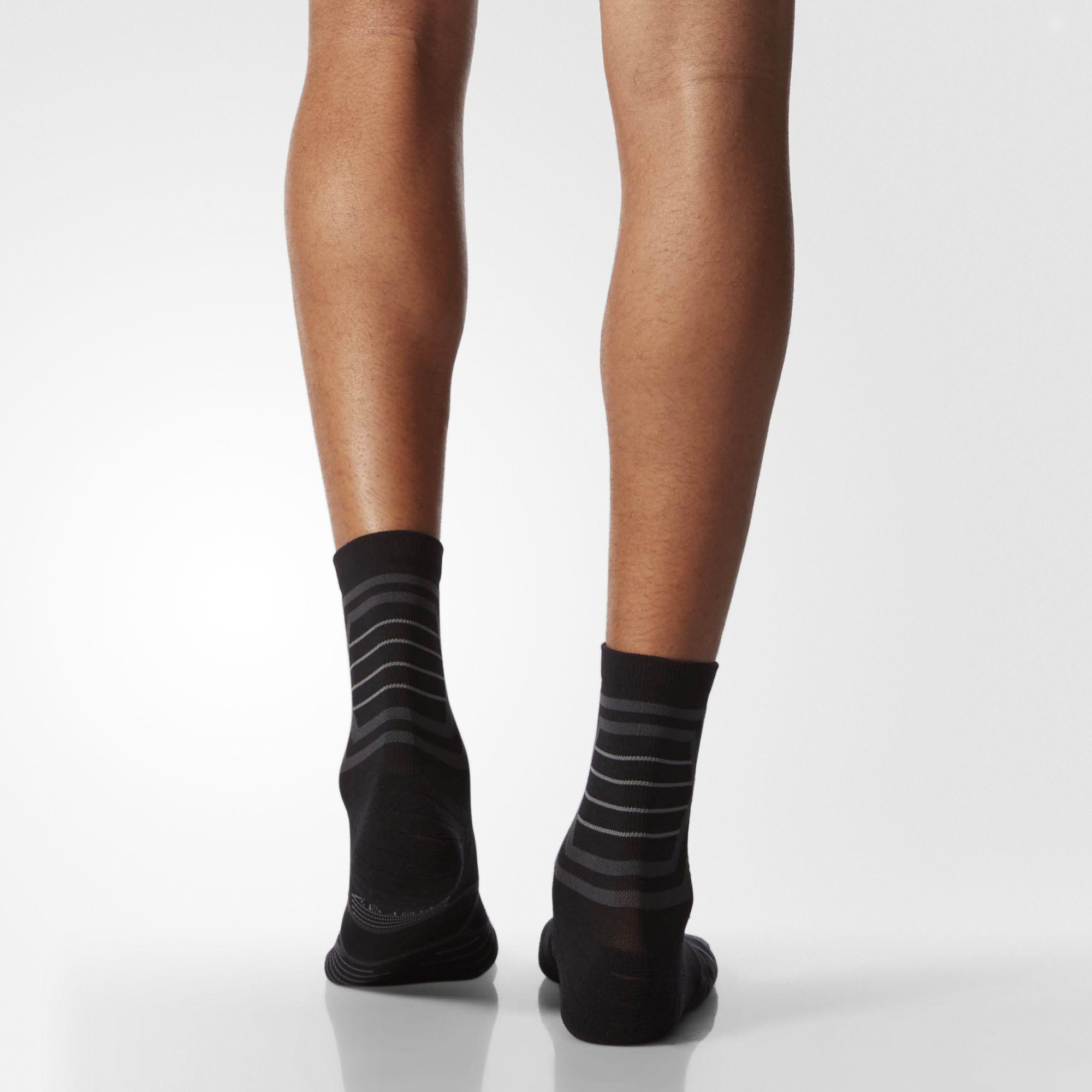 19ae4bb54 Lyst - Adidas Energy Running Mid Crew Socks L 1 Pair in Black for Men