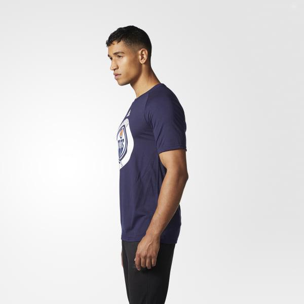 f43545520 Lyst - adidas Oilers Practice Jersey Tee in Blue for Men