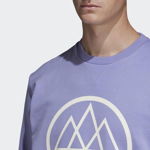 adidas mod trefoil crew sweat purple