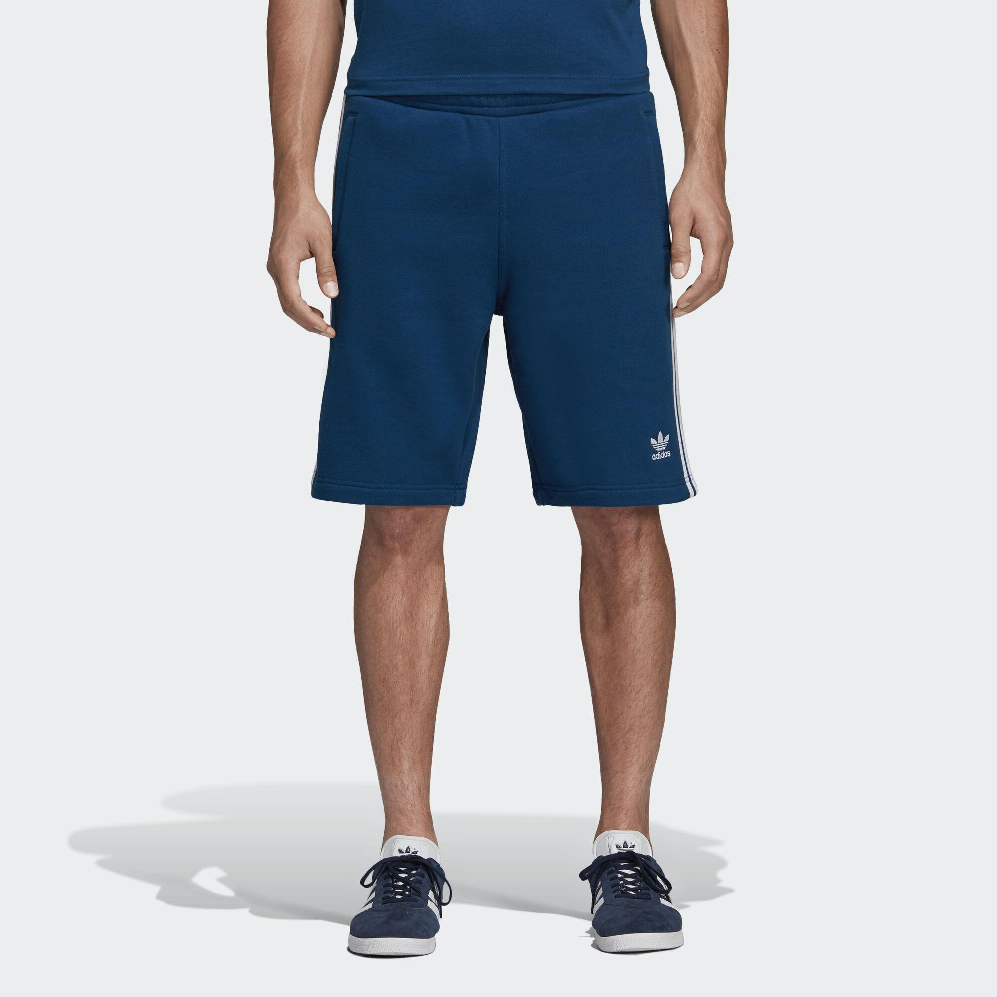 adidas 3 stripes Shorts in Blue for Men Lyst