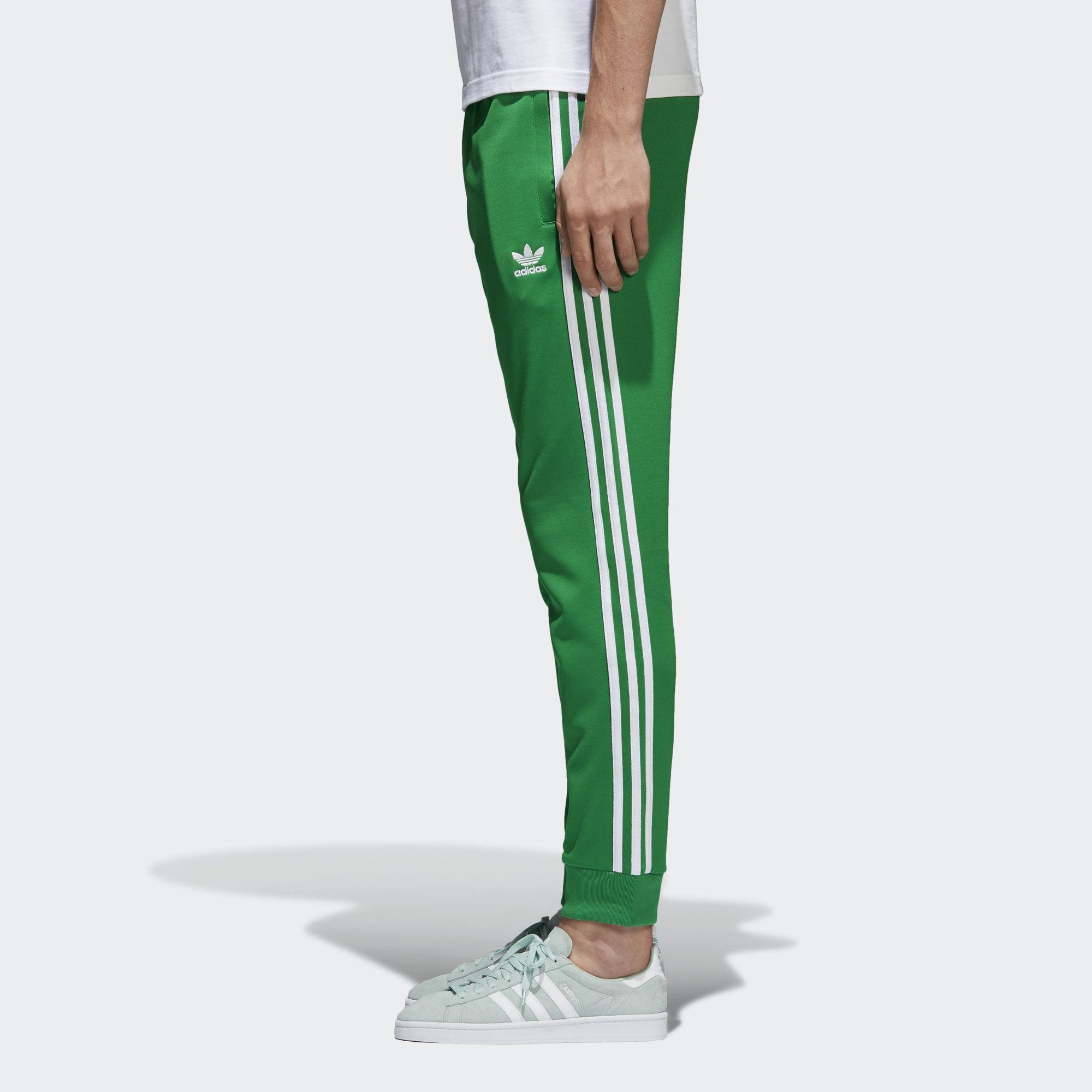 a3a18db7 adidas Sst Track Pants in Green for Men - Lyst