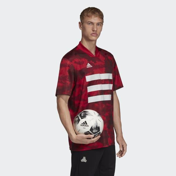 adidas Synthetic Tan Graphic Jersey in Burgundy (Red) for Men - Lyst