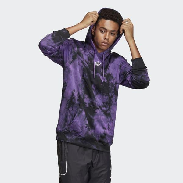 Amargura Sumergir Minero  adidas Synthetic Space-dyed Hoodie in Purple for Men - Lyst