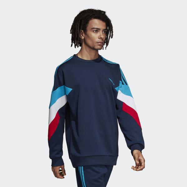 Banco de iglesia congelador El otro día  adidas Synthetic Palmeston Navy Crew Neck Sweatshirt in Blue for Men - Lyst