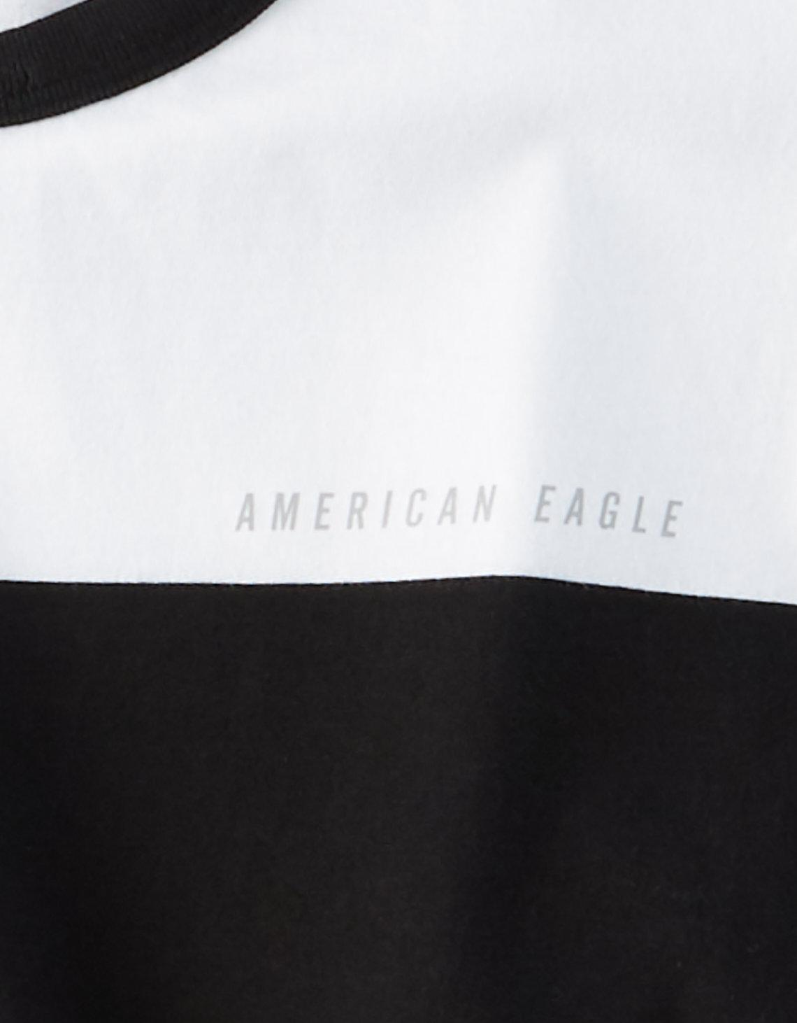 6531dd53e5 American Eagle Ae Rugby Stripe T-shirt in Black for Men - Lyst