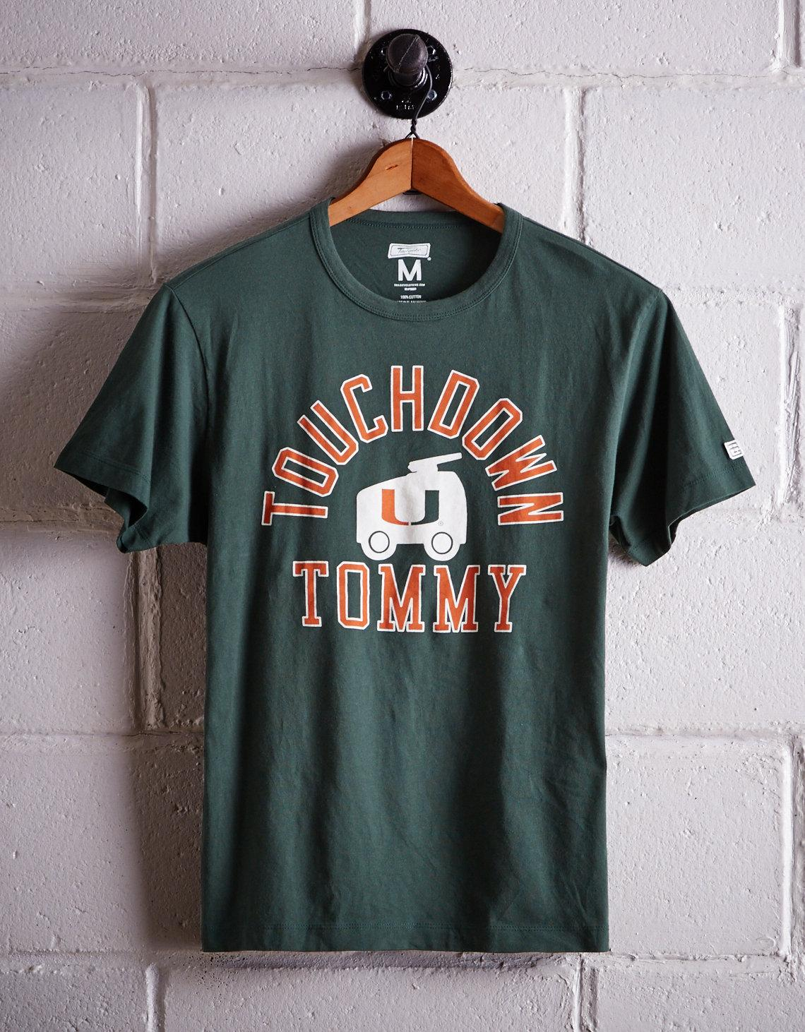 cb0663b4 Tailgate Green Men's Miami Touchdown Tommy T-shirt for men