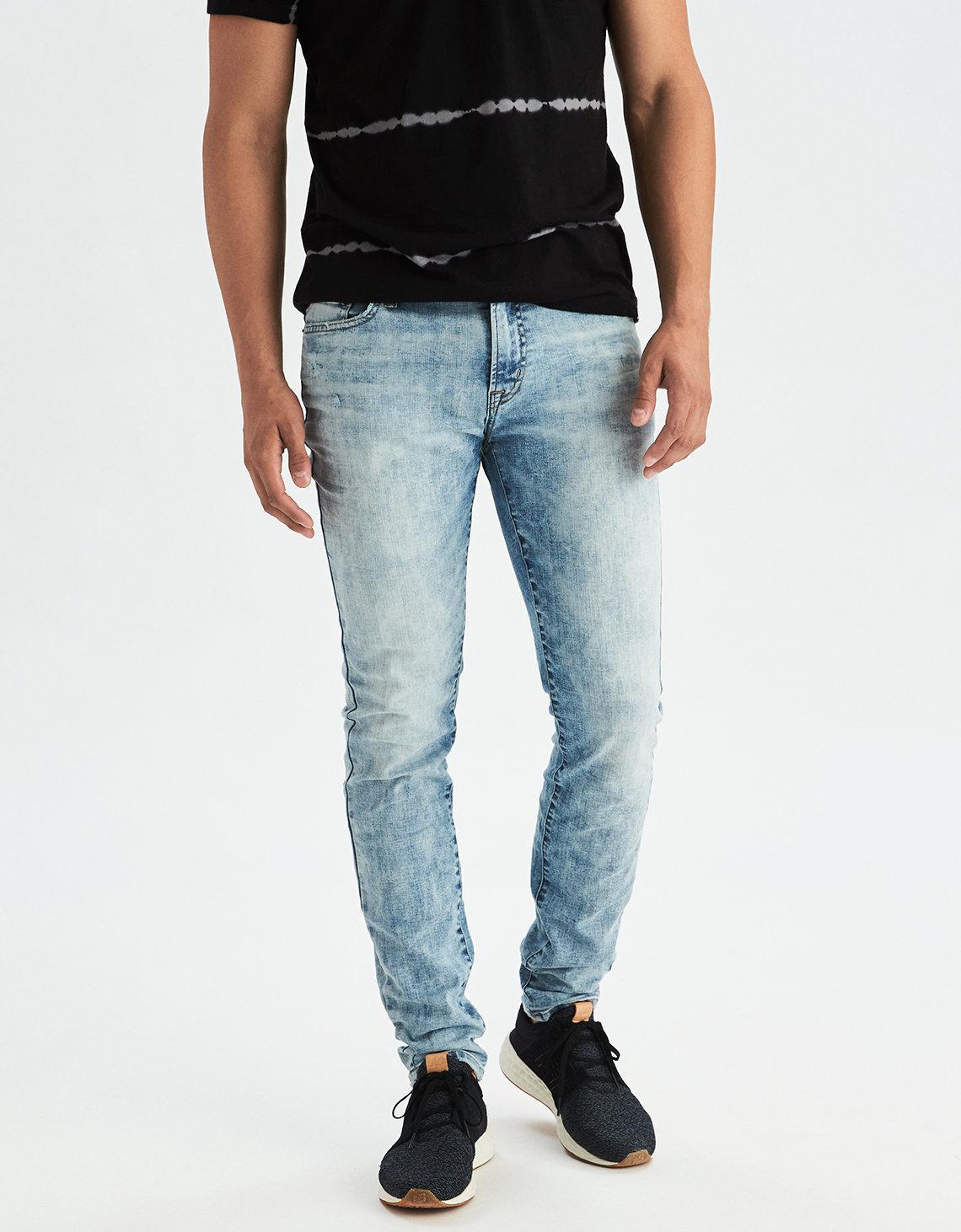 American Eagle Blue Ae 360 Extreme Flex Skinny Jean for men