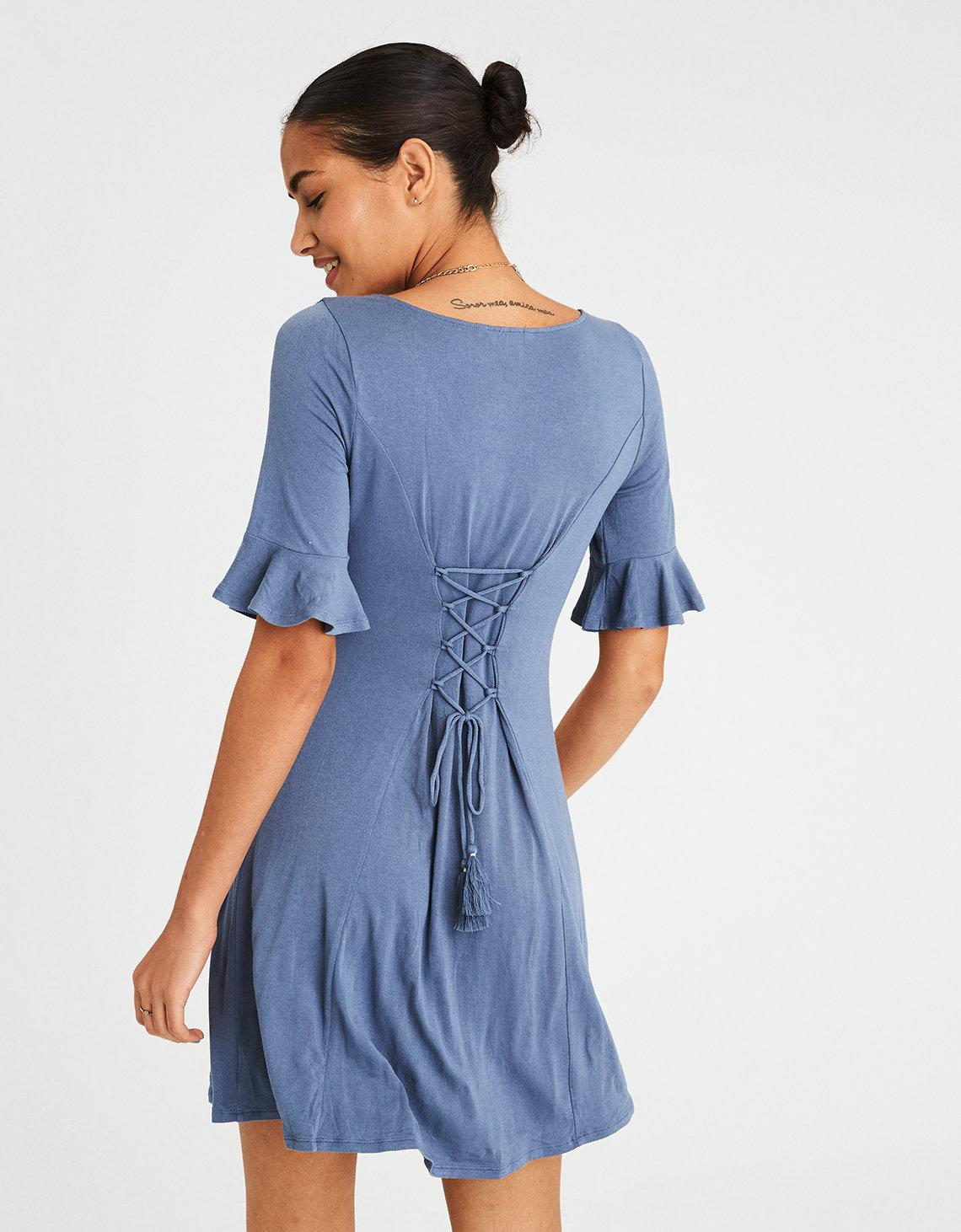Button front sexy dress
